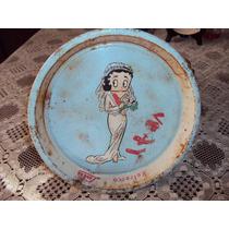 Plato Betty Boop Metalico Antiguo De Refrescos Lulu