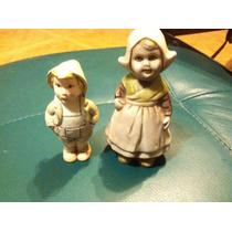 Par De Figuras De Ceramica Antigua