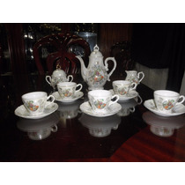 Juego Te Japones Antiguo Decoracion Cafetera Tazas Cremera
