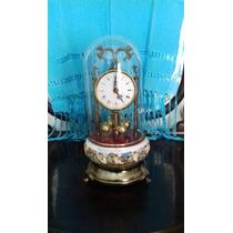 Reloj De Porcelana Cappodimonte 37 X 17 Cm Funciona Con Pila