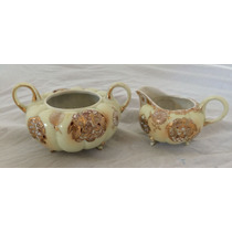 Juego Crema Azucarera Oro Y Delicado Diseño Porcelana China