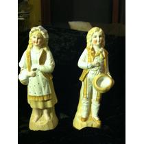 Par De Figuritas Antiguas En Porcelana Fina