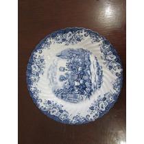 Plato Cerámica Jonhson Brothers Inglaterra Azul Vintage