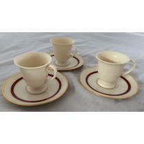 Juego De 3 Tazas Chicas Delicada Porcelana China P/espresso