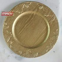 Platos Base Para Banquetes, Resistentes 100% Fibra De Vidrio