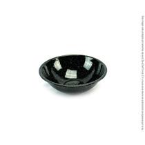 Tazon De Peltre Negro Brillante 14cm De Diámetro
