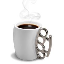 Taza De Ceramica Con Nudillos Metalicos Nueva Diseño