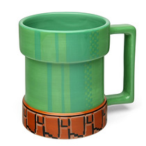 Taza Mario Bros. 15 Oz Cerámica Level-up Oficial