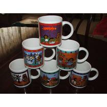 6 Tazas Con Caricaturas E Info. De Cultura Prehispanica Inah