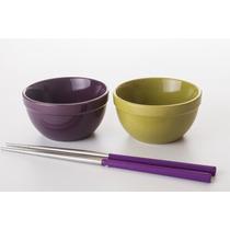 Juego De Minibowls Con Palillos Chinos Sushi - Crown Baccara