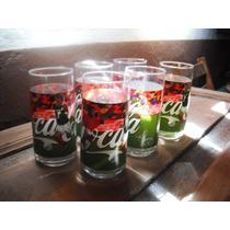 6 Vasos De Vidrio De Coca Cola De Futbool De Garcia Seleccio