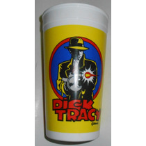 Viejo Vaso Dick Tracy Disney Coca Cola 1989