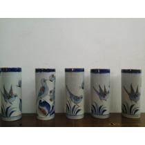 5 Vasos Pintados A Mano