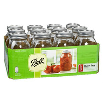Mason Jars 32 Oz Boca Regular 12 Frascos!!! A Super Precio!!