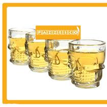 Vaso Calavera Cristal Craneo Halloween Tequila Shot Hm4