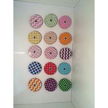Tapas Metálicas De Colores Con Diseño Para Mason Jar