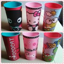 Fiesta, Paquete De 3 Vasos: Hello Kitty, Keroppi Y Chococat