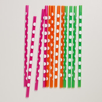 Popotes De Acrilico Polka Dots Varios Colores Paquete Con 12
