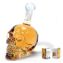 Licorera De Cristal En Figura De Cráneo