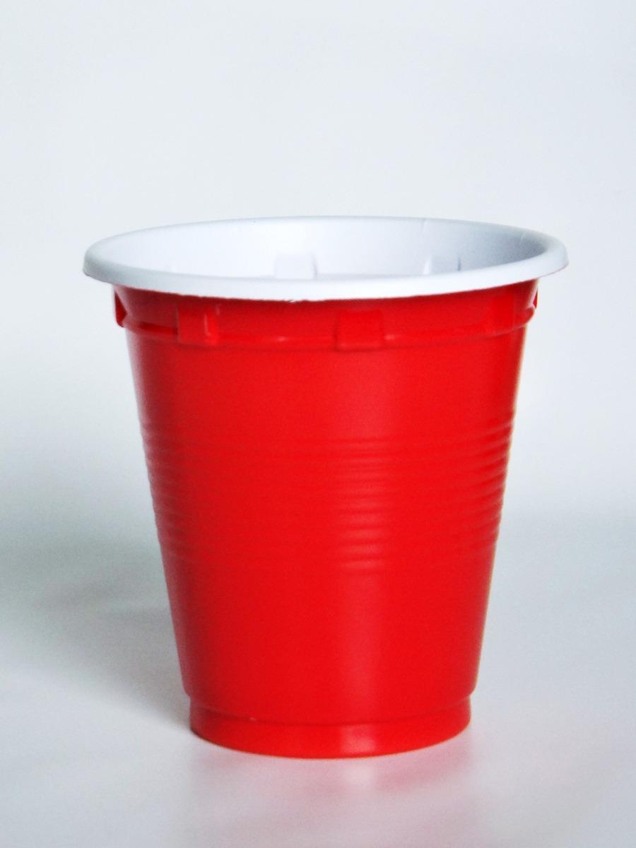 Vasos shots pl stico rojos fiesta bar tequileros for Vasos para bar