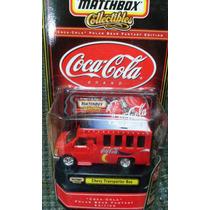 Matchbox Cocacola Chevy Transporter Bus Llantas De Goma