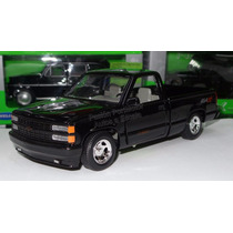 1:24 Chevrolet Pick Up 454 Ss 1992 Negro Motor Max Con Caja