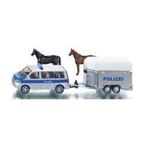 Van De Policia, Remolque Y Caballos Siku Esc. 1/55 Nuevo!