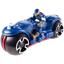 Hot Wheels Marvel Avengers Motocicleta Con Rider (color / Es