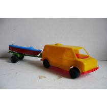 Camioneta Van Con Remolque - Camioncito De Juguete A Escala