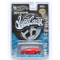 Custom Lamborghini Countach Color Rojo West Coast Hot Wheels