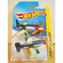 Hot Wheels Avion Mad Propz Azul 124/250 2014