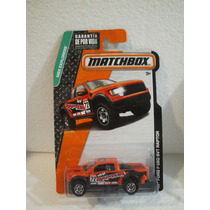 Matchbox Camioneta Ford F-150 Svt Raptor Naranja 1:64