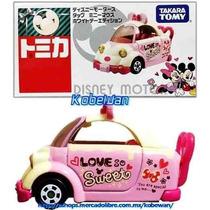 Tomica Disney Motors Tap Minnie Mouse White Day 1/64 Takara