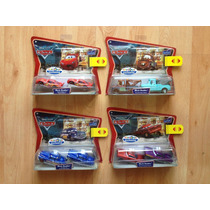 Set 4 Disney Pixar Cars Dobles, Mcqueen, Mate, Doc Y Ramone