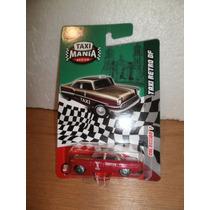 Taxi Mania Taxi Retro Df Rojo/dorado
