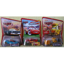 Cars Rayo Mc Queen Cara Blanca Coleccion 3 Coches Metalicos