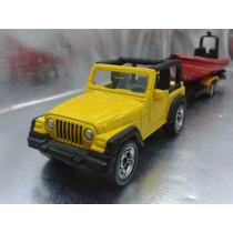 Siku - Jeep Wrangler Con Remolque Y Bote Nuevo En Blister