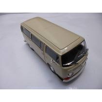 Vw Combi 1972 T2 Esc: 1/24 Welly Auto Escala Coleccion Beige