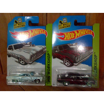 64 Chevy Chevelle Ss Hot Wheels Combo Blanco Y Rojo Llamas