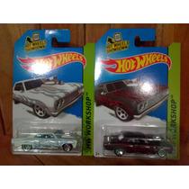 Hot Wheels Chevy 64 Chevelle Ss Combo Blanco Y Rojo Llamas