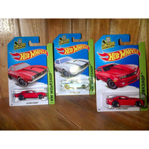 Set 3 Piezas Hot Wheels Copo Camaro 1968 2013 Rojo Y Blanco