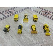 Llote De 7 Carritos De Construccion En Miniatura De Metal