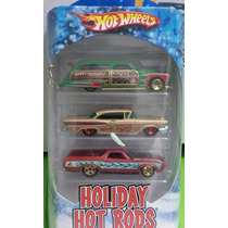 Hot Wheels Set Holiday Hot Rods, 72 Ranchero, 58 Edsel,wodie