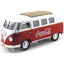 Motormax 1/18 Vw Samba Volkswagen ´62 Cocacola Combi Diecast
