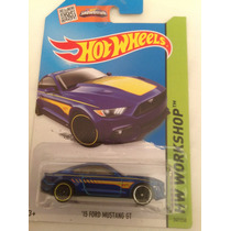 Hot Wheels 15 Ford Mustang Gt Azul Nuevo 2015