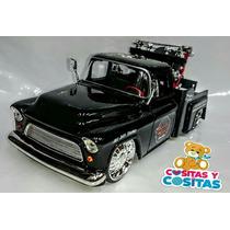 Carro Grua Colección Chevy Pick Up 1955 Sin Caja Escala 1/24