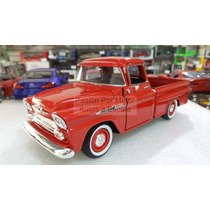 1:24 Chevrolet Apache 1958 Pick Up Rojo Motor Max Display