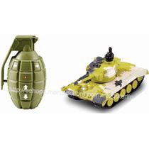 Radiocontrol Mini Tanque T34 1/77 Luz Sonido Movimientos R/c
