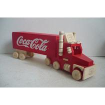 Trailer Coca Cola - Camioncito De Madera - Camion Escala