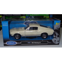 1:24 Mustang Gt 1967 Crema Welly C Caja